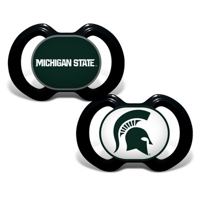 Michigan State Spartans 2pk Pacifier Set