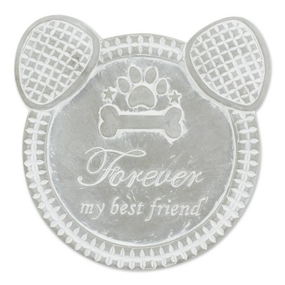 """Cement """"Forever My Best Friend"""" Dog Memorial Stepping Stone Gray - Zingz & Thingz"""