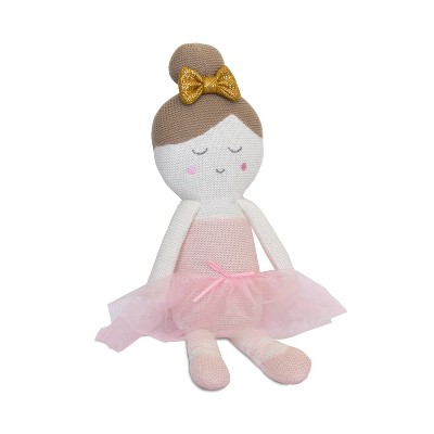 Living Textiles Baby Knit Plush Toy - Emma Ballerina