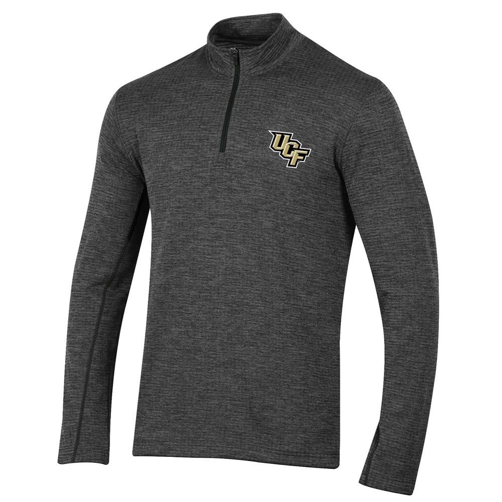 Ucf Knights Men's Long Sleeve Digital Textured 1/4 Zip Fleece - Gray XL
