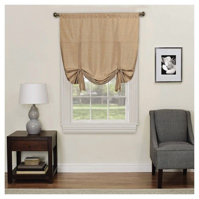 Kendall Thermaback Blackout Tie-Up Shade Tan (42 x63 )- Eclipse™