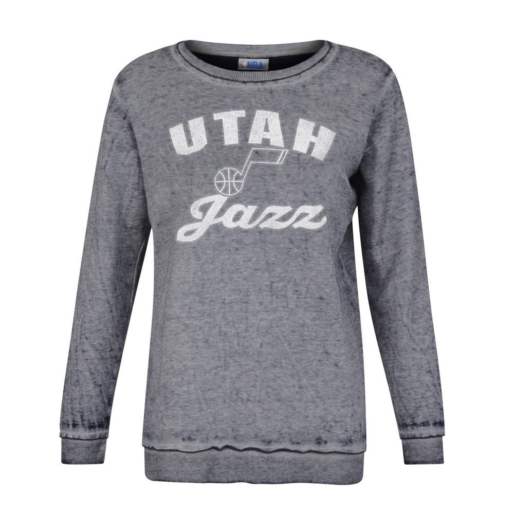 Nba Utah Jazz Women 39 S Distressed Classic Sweatshirt L