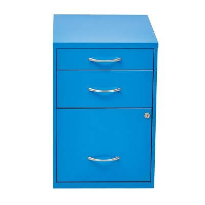 "22"" Metal File Cabinet Blue - OSP Home Furnishings"