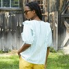 Women's Puff Short Sleeve Ruffle Blouse - Universal Thread™ - image 2 of 4
