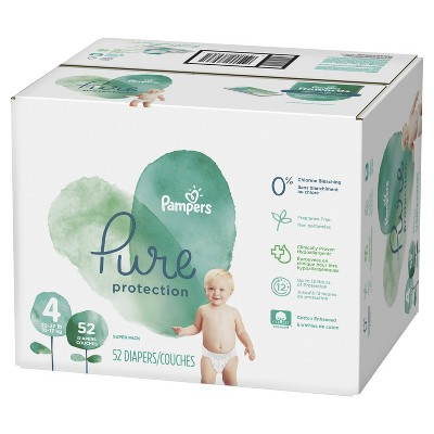 Pampers Pure Protection Diapers Super Pack - Size 4 (52ct)