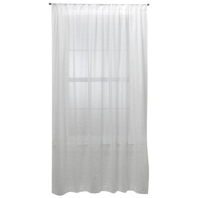 Embroidered Voile Curtain Panel White (54 x84 )- Simply Shabby Chic™