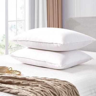 2pk Goose Feather & Down Fiber Back Sleeper Bed Pillow - Scott Living