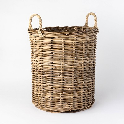 "Decorative Round Kooboo Rattan Basket 18"" x 18"" Gray - Threshold™ designed with Studio McGee"