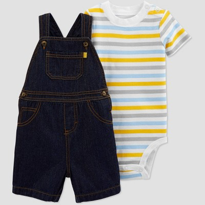Baby Boys' 2pc Striped Denim Top & Bottom Set - Just One You® made by carter's Blue 6M