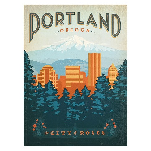 'Portland' by Anderson Design Group Ready to Hang Canvas Wall Art - image 1 of 2