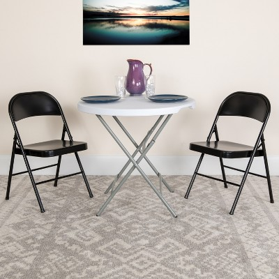 Flash Furniture 4 Pack HERCULES Series Double Braced Metal Folding Chair