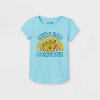 Girls' Mr. Men & Little Miss Sunshine Short Sleeve Graphic T-Shirt - Blue