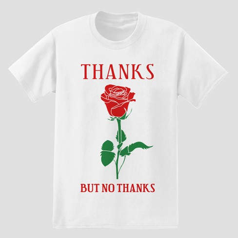 5c68cf5e3 Men's Thanks But No Thanks Short Sleeve T-Shirt - White : Target