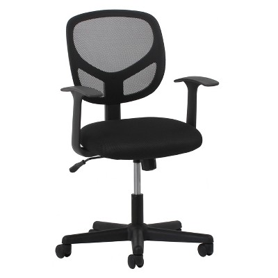 Mid Back Swivel/Tilt Office Chair Mesh Black - OFM
