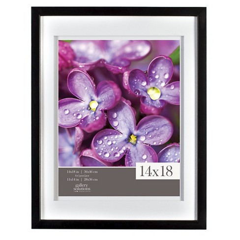 "Gallery Solutions 14""x18"" Frame - Black - image 1 of 4"