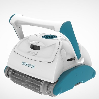 Aquabot Emerald 300 APP Automatic Dual PVC Brush Robot Universal In Ground Pool Cleaner Machine w/ 4D Ultra Fine Microfiber Filtration & 59 Foot Cord