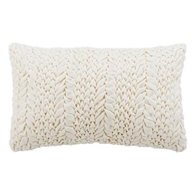Barlett Lumbar Throw Pillow Cream - Safavieh