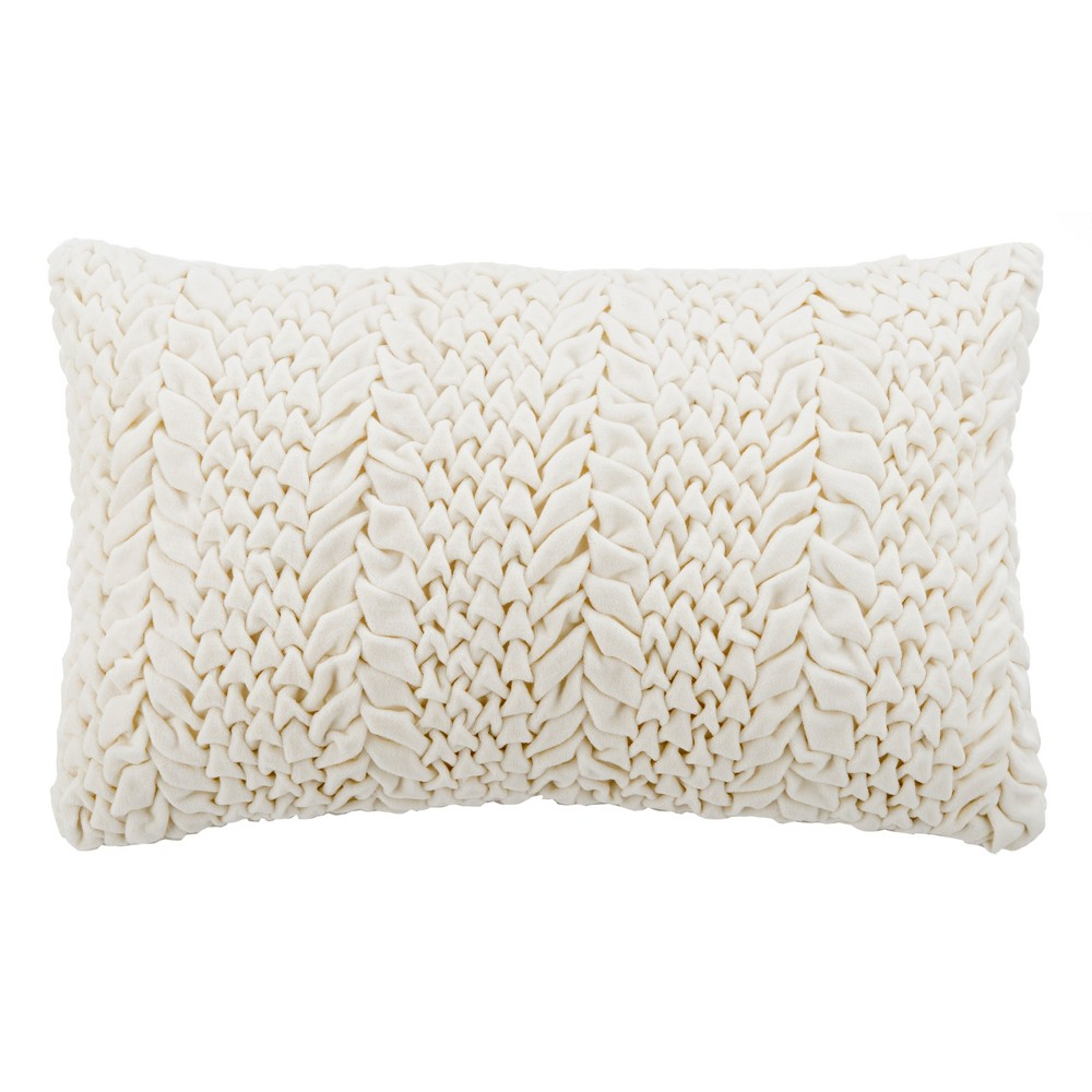 Barlett Lumbar Throw Pillow Cream - Safavieh, Beige