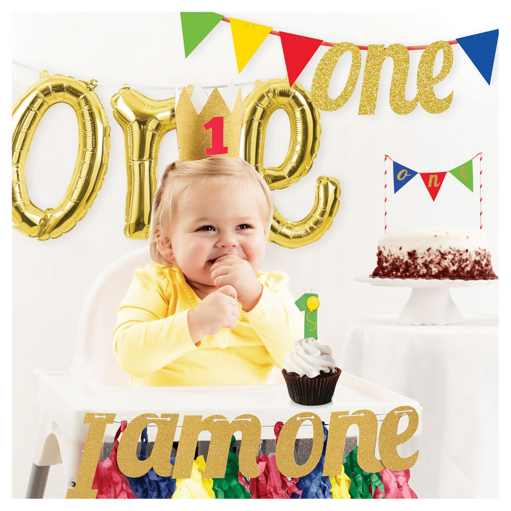 1St Birthday Party Decorations Kit, Multi-Colored
