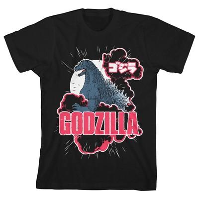 Classic Godzilla Youth Black Graphic Tee