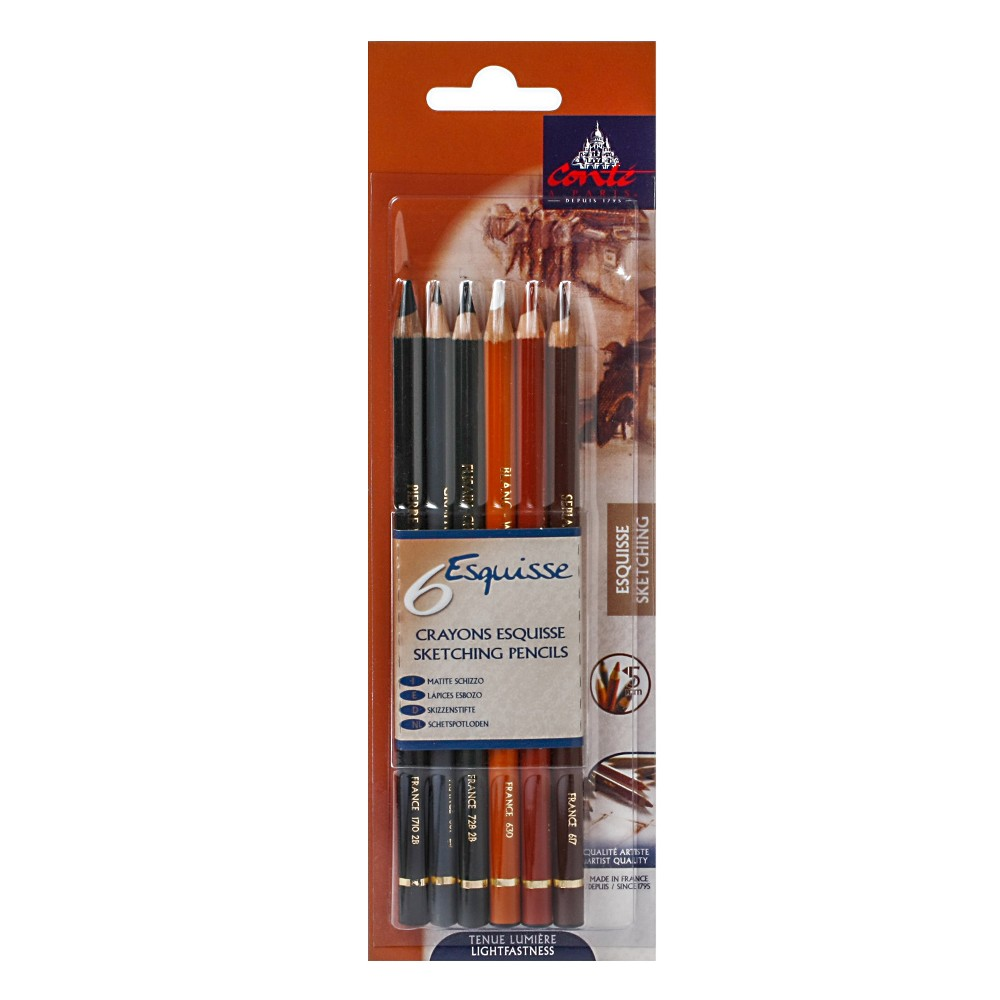 Image of Sketching Pencil Set 6ct - Conte