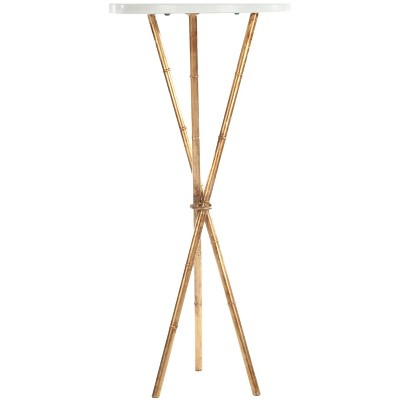 Greenwich Side Table Gold/White - Safavieh