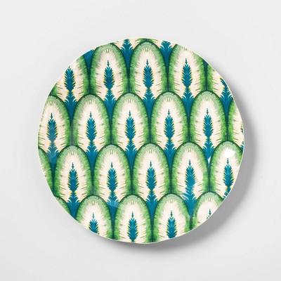 8.9  Melamine Peacock Feather Salad Plate Green - Opalhouse™