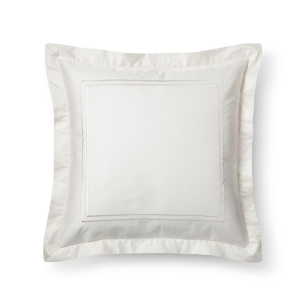 Sour Cream (Ivory) Tonal Hotel Sham (Euro) - Fieldcrest