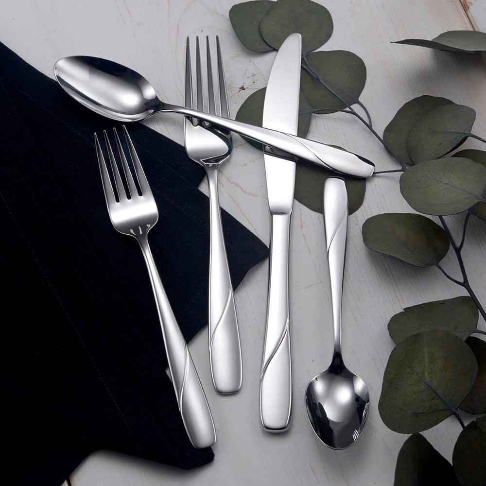 Image of 42pc Stainless Steel Abel Silverware Set - Studio Cuisine