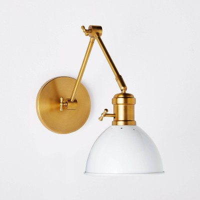 Metal Dome Sconce Wall Light (Includes Energy Efficient Light Bulb) Brass - Threshold™ designed with Studio McGee