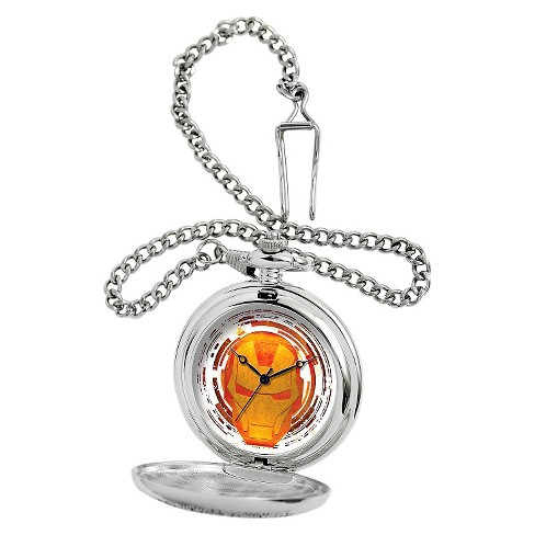 Men's Marvel Iron Man Silver Pocket Watch - Silver - image 1 of 2