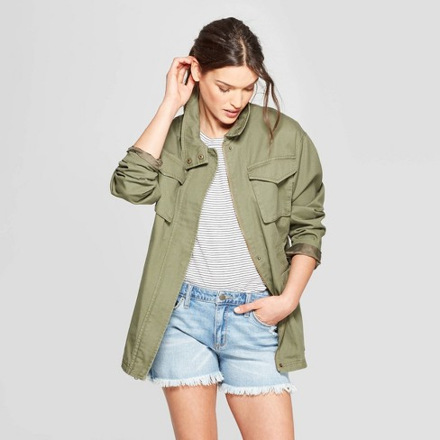 Women's Utility Field Jacket - Universal Thread™ Olive - image 1 of 2