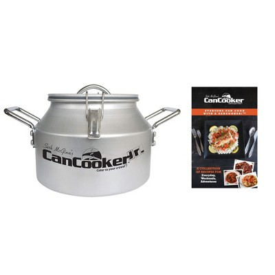 CanCooker JR Outdoor or In Home Stove Convection 2 Gallon Steam Cooker, Feeds up to 10 People and Recipe Cookbook Volume 1