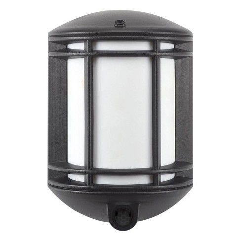 It's Exciting Lighting IEL-1300 Indoor Outdoor Garage Cambridge Battery Powered Motion Sensor Security Pendant Light, Black - image 1 of 4