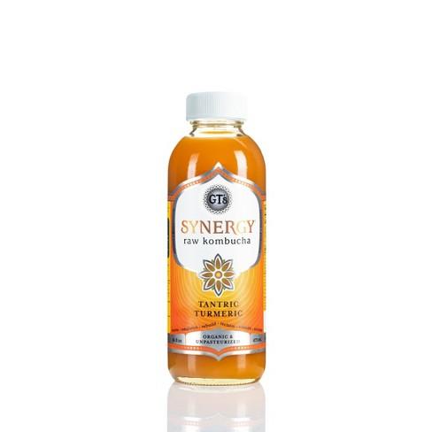 GT's Synergy Tantric Turmeric Organic Kombucha - 16 fl oz Bottle - image 1 of 4
