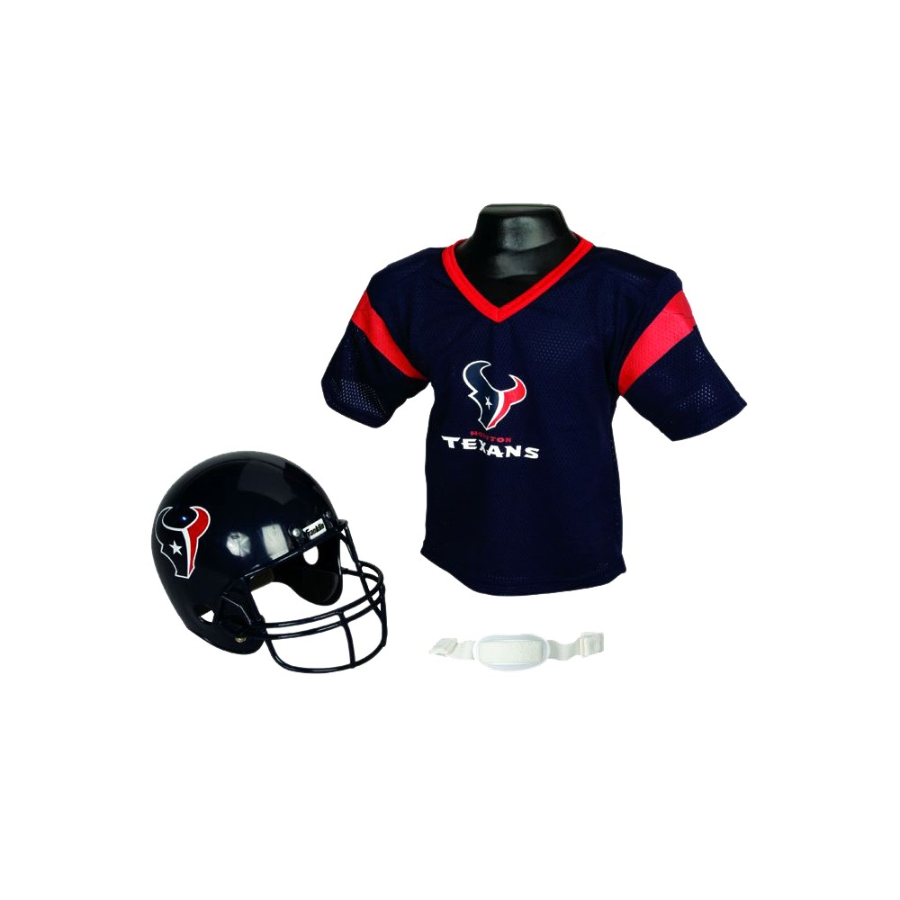 Franklin Sports NFL Team Helmet and Jersey Set - Ages 5-9 - Houston Texans, Kids Unisex