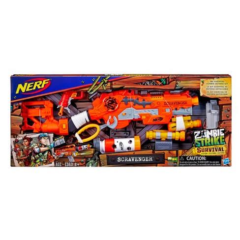 nerf zombie survival system scavenger blaster target