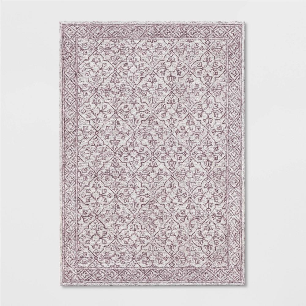 7'X10' Argyle Tufted Area Rug Blush Pink - Threshold