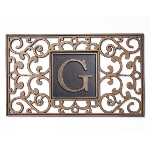 Lakeside Monogram Hidden Key Doormat - - image 1 of 2
