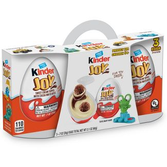 Kinder Joy Sweet Cream Topped with Cocoa Wafer Bites Chocolate Treat + Toy - 3ct