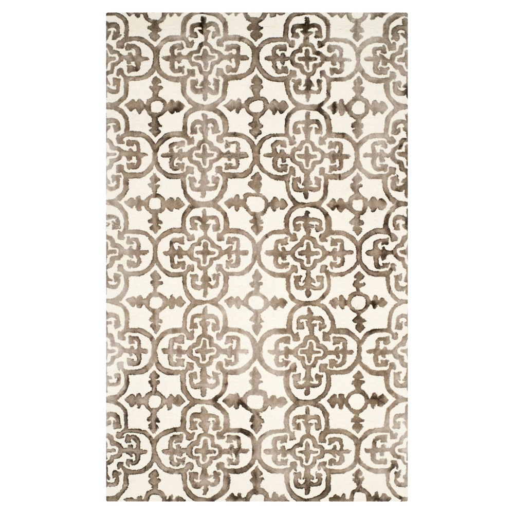 Bardaric Area Rug - Ivory/Brown (4'x6') - Safavieh