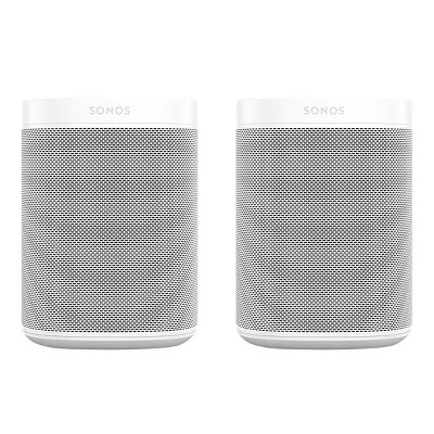 Sonos One Gen 2 Two Room Wireless Speaker Set with Voice Control Built-In