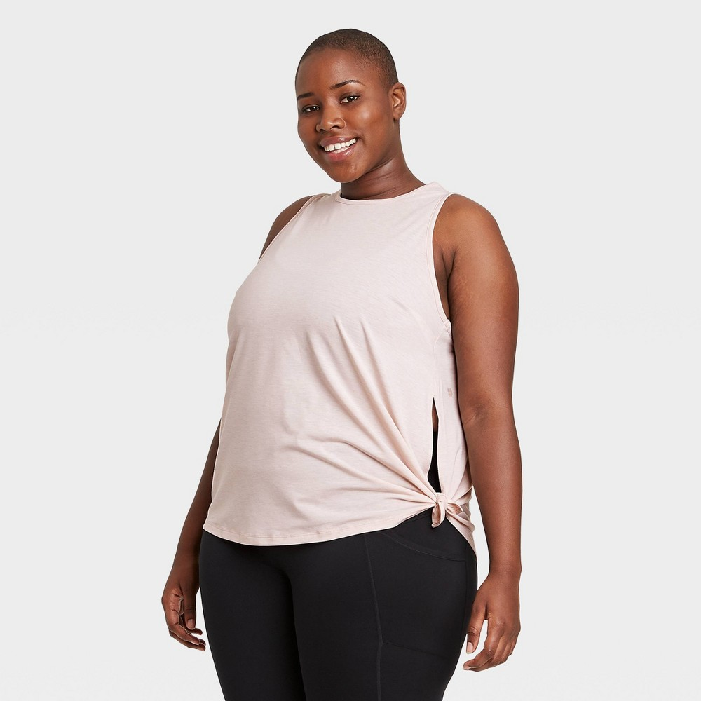 Women 39 S Plus Size Side Tie Tank Top All In Motion 8482 Rose 2x