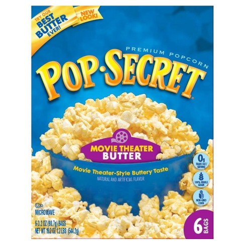 Pop Secret Movie Theatre Buttered Popcorn - 3.2oz -6ct - image 1 of 1