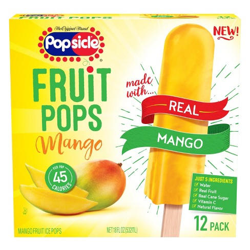 Popsicle Real Mango Fruit Frozen Pops  - 12pk - image 1 of 4