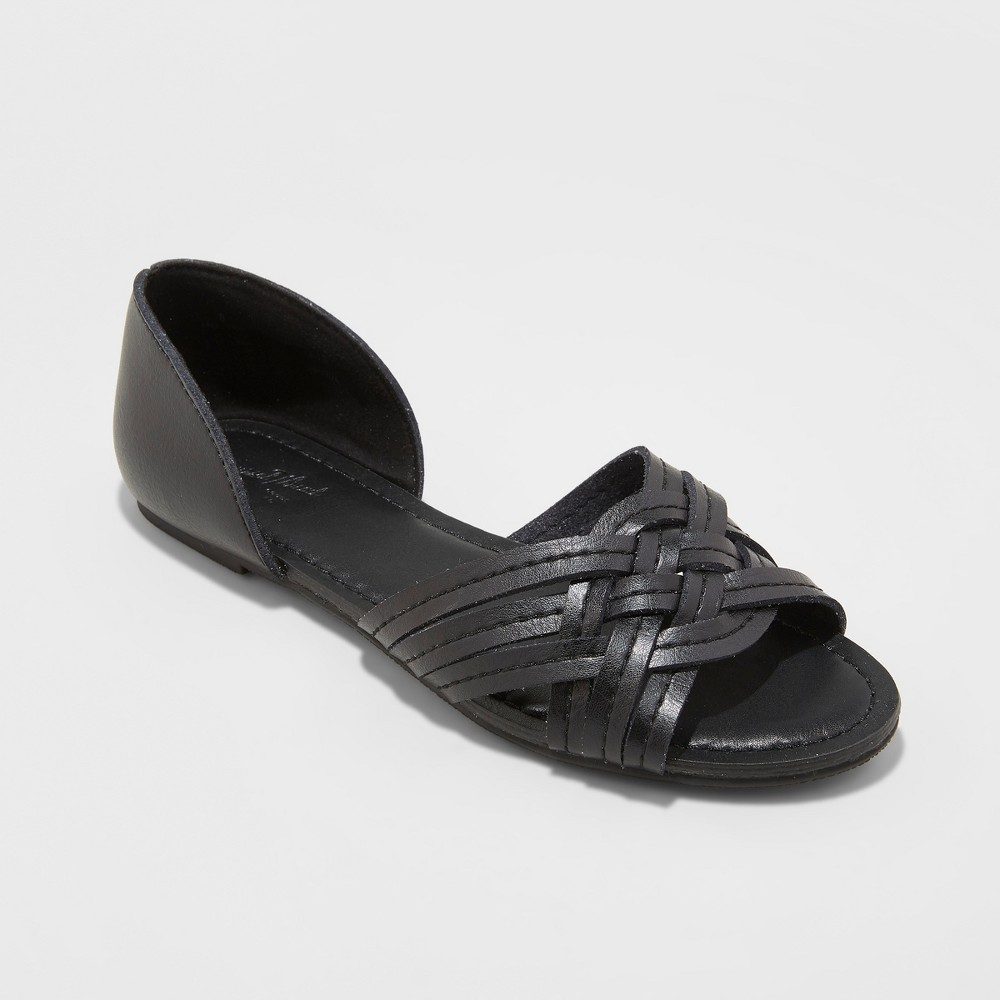 Image of Women's Vail Wide Width Woven Slide Sandals - Universal Thread Black 5.5W, Size: 5.5 Wide