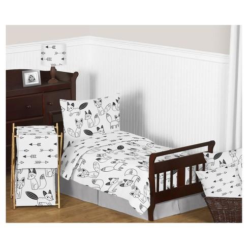 Black White Fox Bedding Set Toddler Sweet Jojo Designs Target