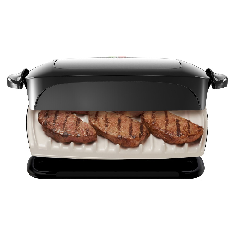 Image of George Foreman 5-Serving Removable Plate Grill and Panini Press - Black GRP472P