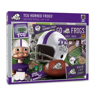 NCAA TCU Horned Frogs Throwback Puzzle 500pc