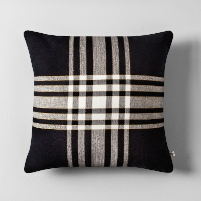 Plaid Throw Pillow (18 )- Black/White - Hearth & Hand™ with Magnolia